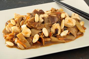 cibo cinese pollo con mandorle