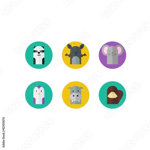 Cute Panda with Bat and mice
