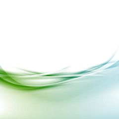 Transparent border swoosh smooth wave background