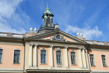 Famous Nobel Academy in Stockholm.