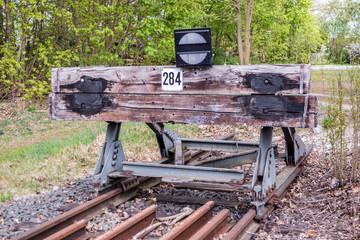 Prellbock Abstellgleis Bahn