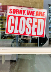 Schild sorry we are closed