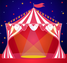 Circus show tent background