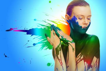 Foto op Plexiglas Beauty abstrakte sexy motiv