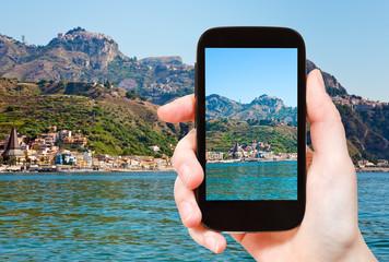 picture of Taormina - popular tourist resort