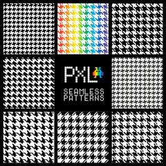 Seamless fashion pattern of pixel style