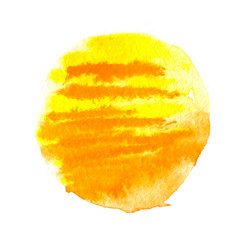 watercolor sun, vector illustration