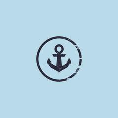 Anchor logo. Nautical theme.