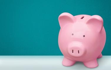 Piggy Bank. Pink piggy bank
