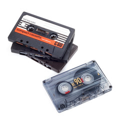Some Compact Cassettes. Includes Clipping Path.