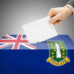 Ballot box painted into national flag - British Virgin Islands