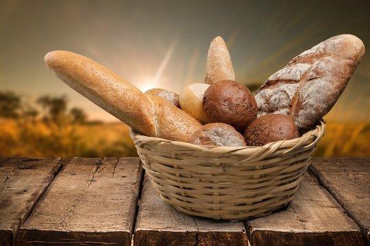 Bread. Basket of bread