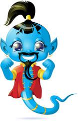 Illustration of cute Genie
