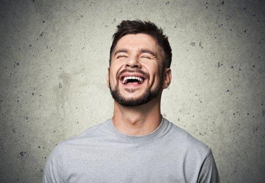 Joy. Guy laughing