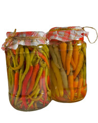 Hot peppers jars