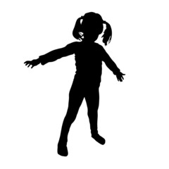 kids vector silhouette