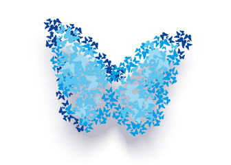 abstract blue butterfly background