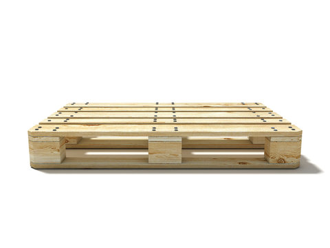 Euro pallet. Side view