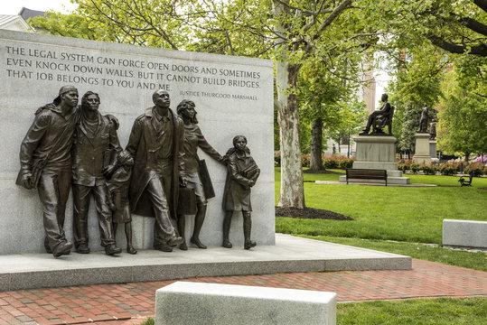 Civil Rights Monument Historic Capitol Square Richmond Virginia