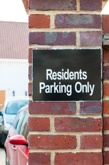 Sign 'Residents Parking Only'