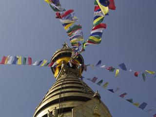 Buddhist Swayambunath Stupa, Kathmandu, Nepal