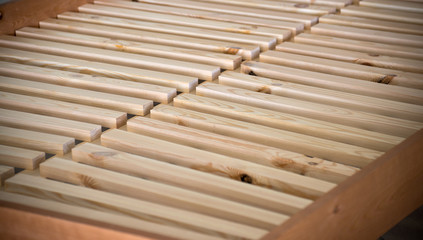 Wooden slats bed
