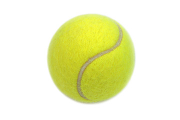 Wall Mural - Tennis ball isolated on white background.