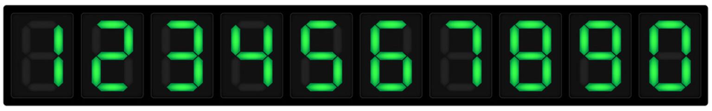 Obraz Numeri display sette segmenti - fototapety do salonu