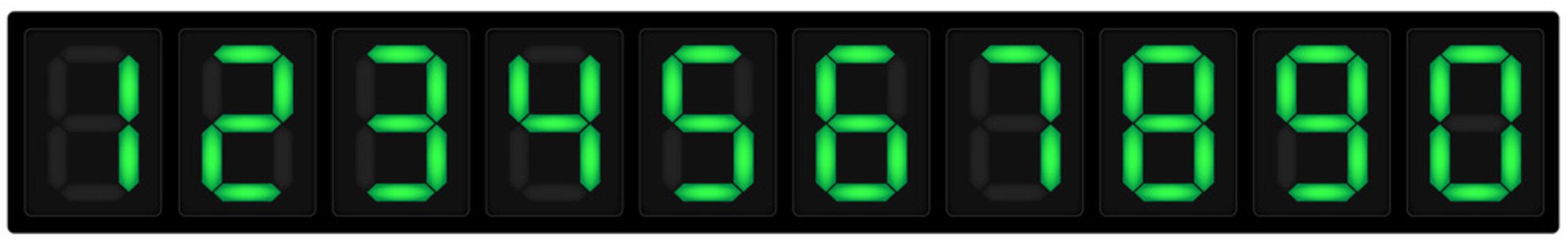 Numeri display sette segmenti