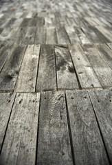Wooden path floor