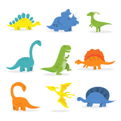 Happy Cartoon Dinosaur Set