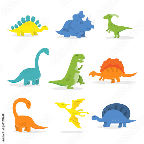 Happy Cartoon Dinosaur Set