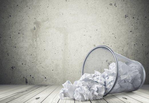 Garbage. Office: Wastepaper Basket Tumbled