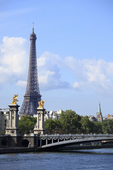 River Seine with Eiffel Tower