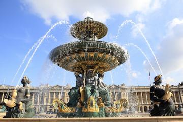 Famous fountain in Place de la Concorde, Paris