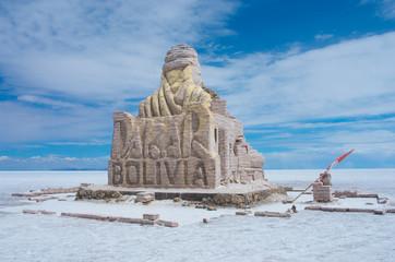 The Dakar Bolivia Monument in Salar de Uyuni