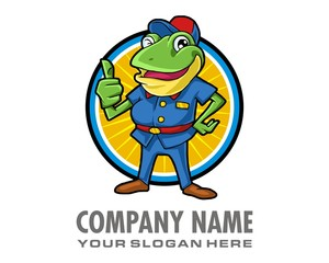frog toad character image vector
