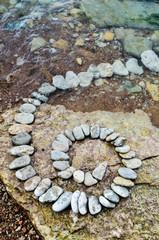 Helix of stones