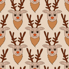 Deer seamless pattern