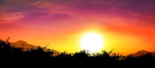 beautiful sky and sunset