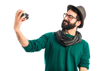 Man making a selfie