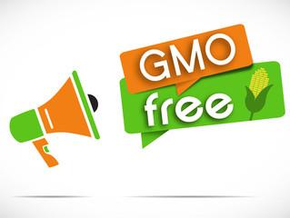megaphone : GMO free
