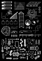 vector doodle hand drawn infographic set