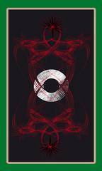 Tarot cards - back design, Circle