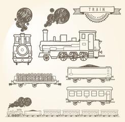 Doodle train. EPS8.