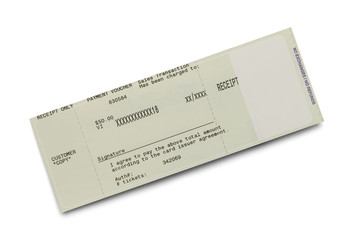 Ticket Receipt