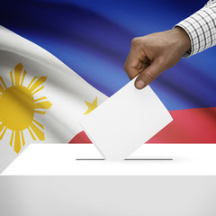Ballot box with national flag on background series - Philippines