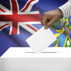 Ballot box with national flag series - Pitcairn Group of Islands