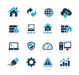Icons for web development in Hosting and Networks Azure Series