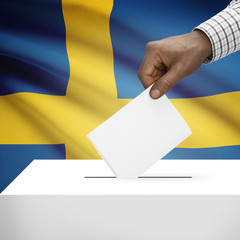 Ballot box with national flag series - Kingdom of Sweden